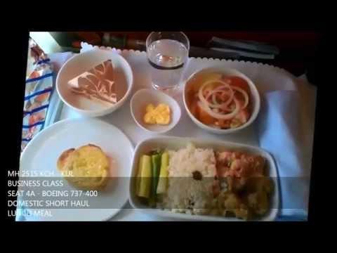 Malaysia Airlines onboard Meal Highlights (Business & Economy Class) KUL-KCH-KUL-LGK-KUL
