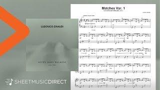 Matches Var. 1 Sheet Music - Ludovico Einaudi - Piano Solo Seven Days Walking Day 2