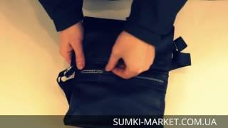 Обзор мужской кожаной сумки через плечо 4371-04