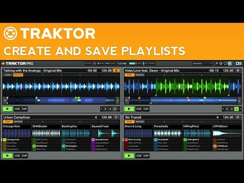 How to DJ with Traktor Pro 2: Part 4 - Create and Save Playlists