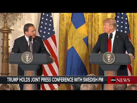 President Donald Trump, Swedish PM Lofven hold joint news conference | ABC News