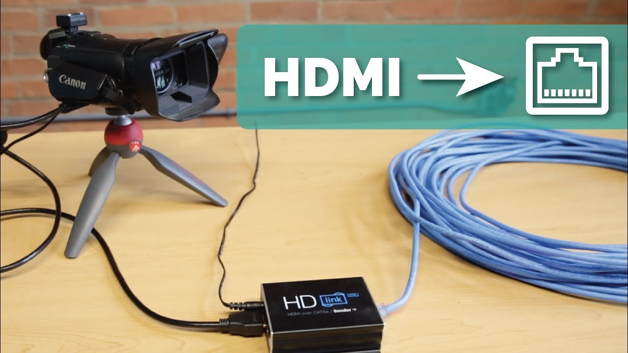 Extend An Hdmi Signal Up To 100 Ft Over Cat5e 6 Cabling