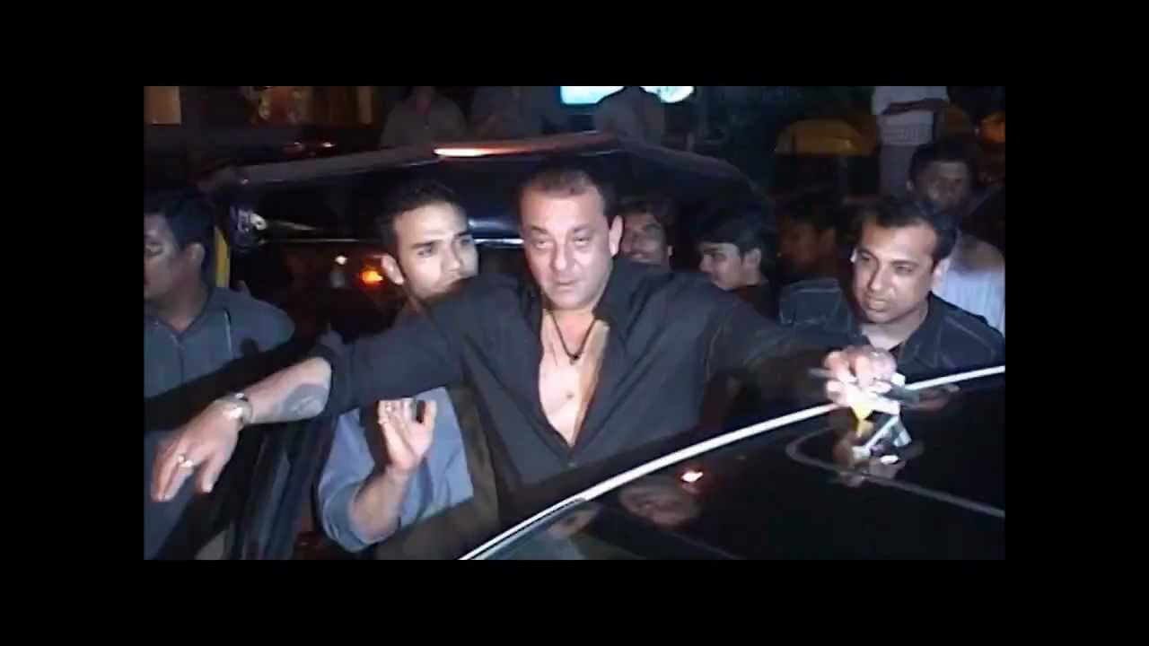 drunk sanjay dutt caught abusing on camera   youtube