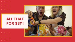All that for $3?! Americans try 7/11 Thai Snacks!!