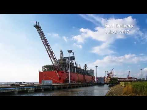 The World's First FLNG Barge