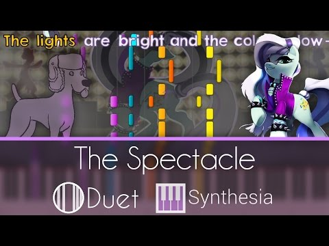 The Spectacle (Razzle Dazzle) - |DUET PIANO TUTORIAL w/LYRICS| -- Synthesia HD