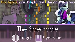 The Spectacle (Razzle Dazzle) -  DUET PIANO TUTORIAL w/LYRICS  -- Synthesia HD