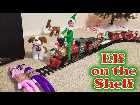 Fabricating Purple & Pink Elf on the Shelf – Green Prankster Elf Rides the Train! Day 12