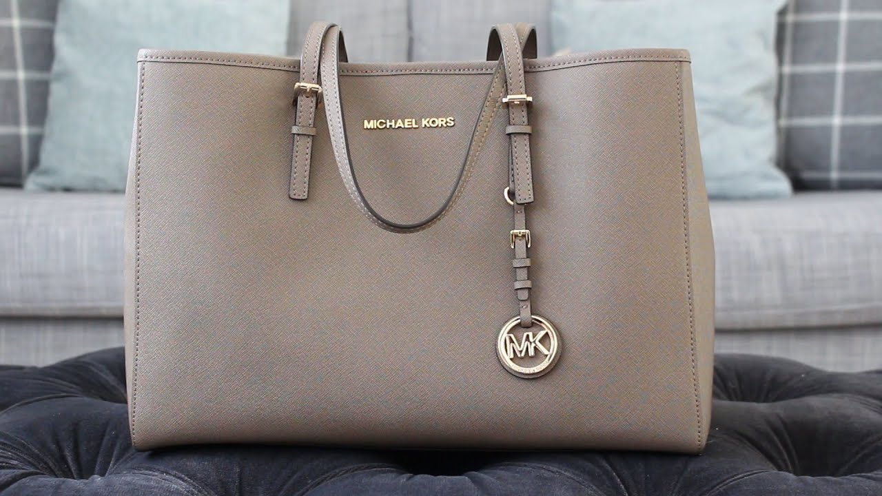 large jet set travel tote michael kors