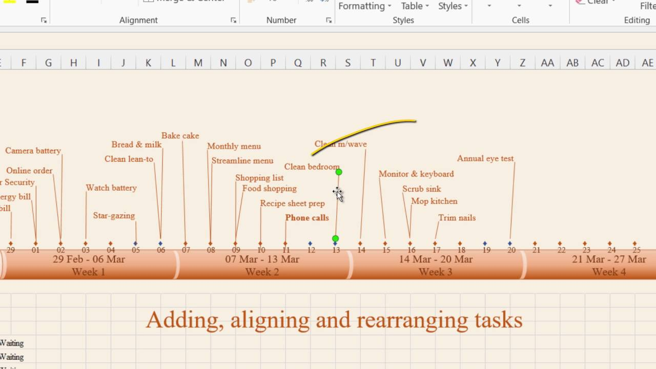 how to create timeline in ms excel 2013 1 timeline features