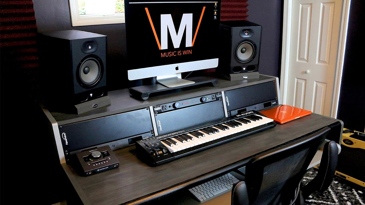 The Ultimate Home Studio Desk. Music Is Win