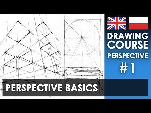 Drawing Tutorial - Perspective Basics   Kurs Rysunku - Podstawy Perspektywy [S01E01 ENG/PL]