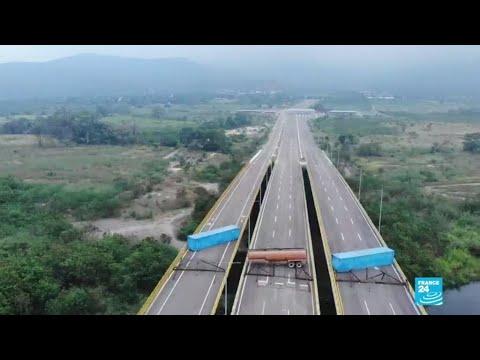 Nicolás Maduro levanta barreras físicas para impedir el ingreso de ayudas humanitarias