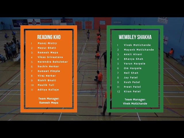 Game 21 - Kho Kho England | Reading Kho (M) vs. Wembley Shakha (M)