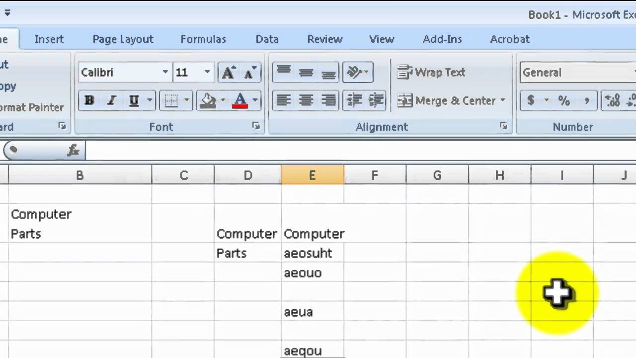 how to use excel to add 1 each cell