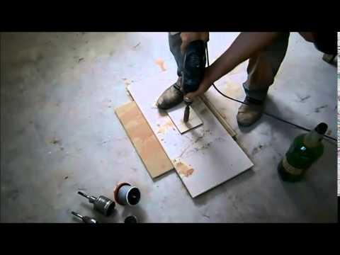 видео: Отверстие в плитке. Отверстие в плитке видео