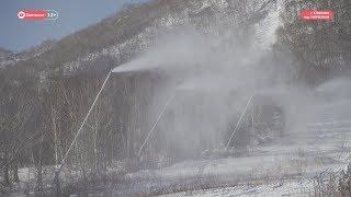 Искусственный снег на горнолыжной базе «Морозной»