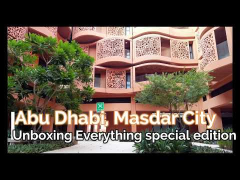 Where I live? Green sustainable city in the middle of the Desert! Masdar City [4K]