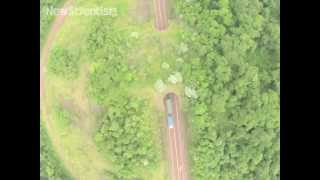 Drone buzzes South America