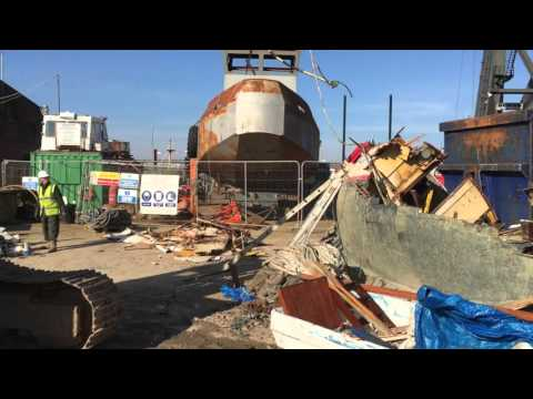 Wooden Boat Scrap at the Boatbreakers Scrapyard (Portsmouth,