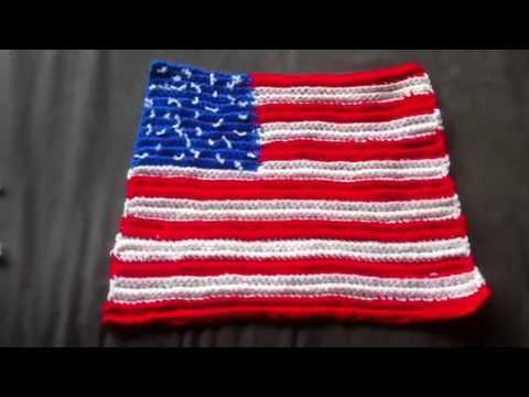 Crocheted American Flag