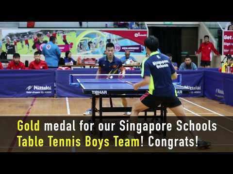 ASEAN Schools Games 2017 - Table Tennis Highlights