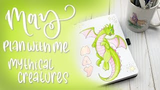 May 2019 Plan With Me | Bullet Journal Setup | Mythical Creatures