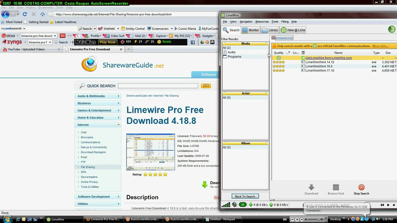 Download limewire 4. 18. 8 free download.