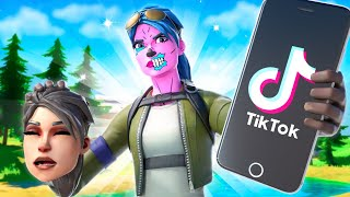 I tried out for a TIKTOK Clan as a FAKE DEFAULT SKIN in Fortnite... (it worked)