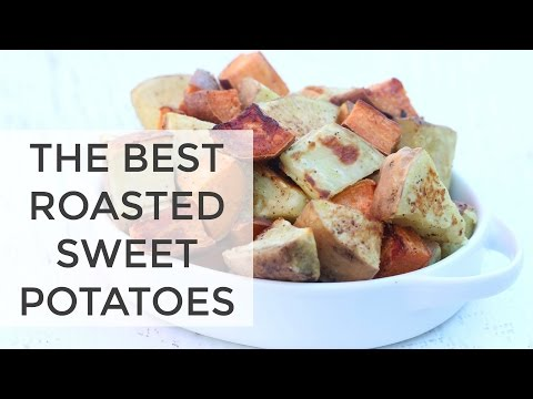 ROASTED SWEET POTATOES | the BEST sweet potato recipe