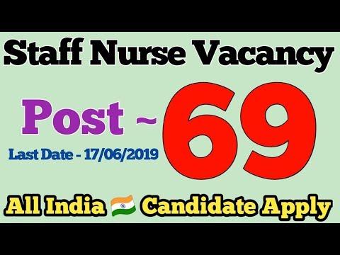 Latest Staff Nurse Vacancy 2019 || Nursing Officer || Post - 69 || New Delhi