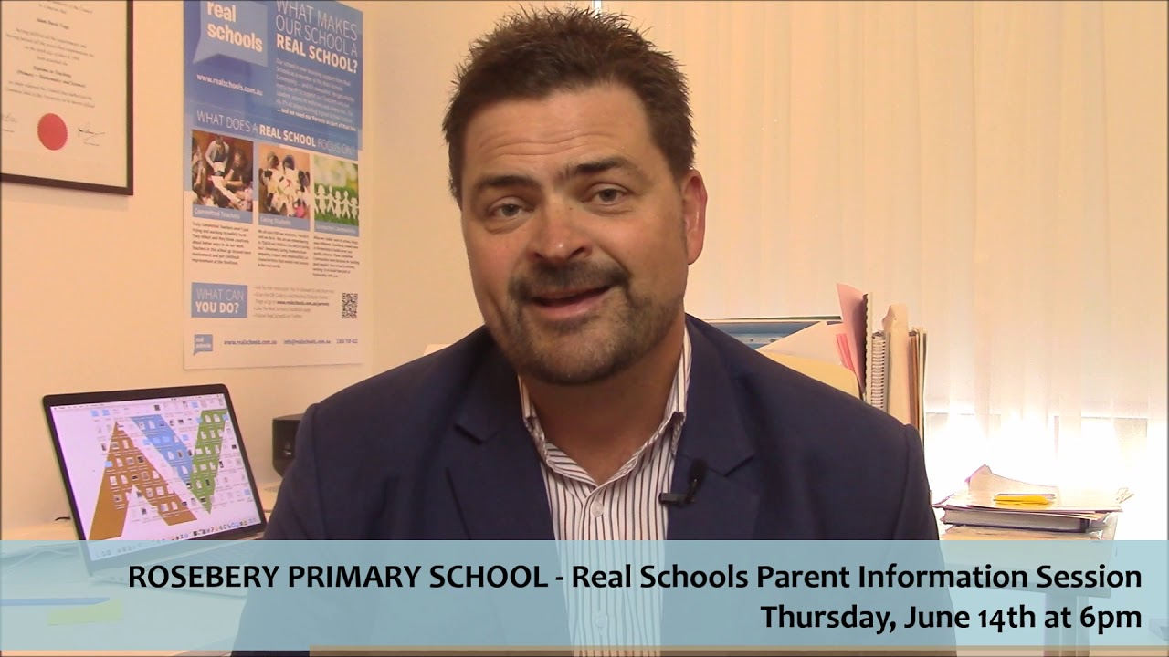 Real Schools - Rosebery Primary School - Parent Information Session
