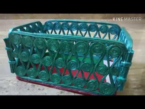 Unique newspaper basket DIY