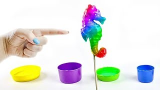 Learn Colours With Animals Shapes DIY Snail Art Unicorn For Children
