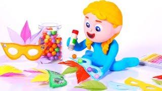 KIDS MAKING CARNIVAL MASKS ❤ SUPERHERO PLAY DOH CARTOONS FOR KIDS