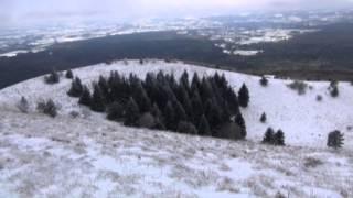 Rando en Auvergne : Hivernale au Puy de Côme (Chaîne des Puys) et panorama depuis le sommet