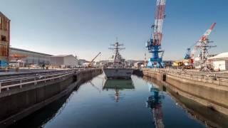 USS Stethem Dry Dock 2015