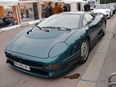 jaguar xj220 rally de paris 2011 youtube. Black Bedroom Furniture Sets. Home Design Ideas