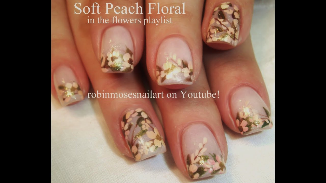 Easy wedding nails vintage flower nail design tutorial youtube prinsesfo Image collections