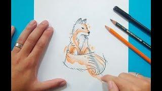 Como dibujar un zorro paso a paso 3 | How to draw a fox 3