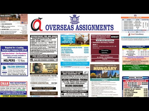 ASSIGNMENTS ABROAD TIMES JOBS TODAY