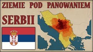 Ziemie pod panowaniem Serbii latami, na mapach - Historia na Szybko