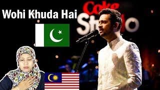 Wohi Khuda Hai | Atif Aslam | Coke Studio | Malaysian Girl Reaction
