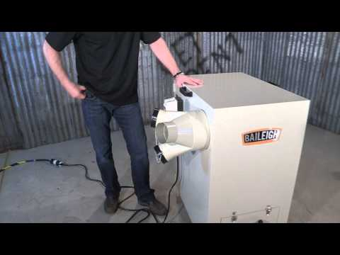 Baileigh Industrial MDC-1800 Metal Dust Collector Metal fabrication Dust Collection