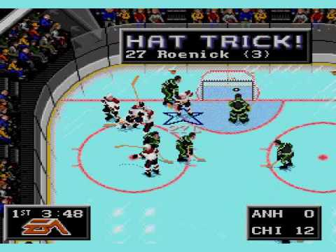 Chicago Blackhawks Score 22 Goals In 10 Minutes Nhl 94 Sega Genesis Youtube