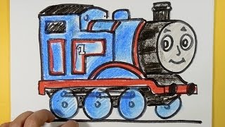 How to draw Thomas from Thomas and Friends step by step