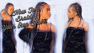 How To Braid Your Own Hair! (Tribal Braids)