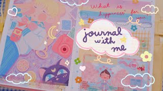 Relaxing Journal With Me | What Happiness Means To Me 🌼 (collab with patrons!) | Rainbowholic