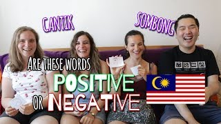 Positive or Negative? Malay Adjectives