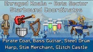Starbound Coordinates [Beta]: Pirate Coat, Bass Guitar, Steel Drum, Harp, Glitch Castle